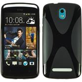 Silicone Case for HTC Desire 500 X-Style black