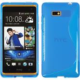 Silicone Case for HTC Desire 600 S-Style blue