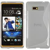 Silicone Case for HTC Desire 600 S-Style gray