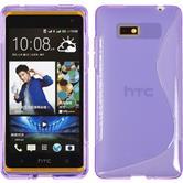 Silicone Case for HTC Desire 600 S-Style purple