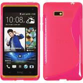 Silicone Case for HTC Desire 600 S-Style hot pink