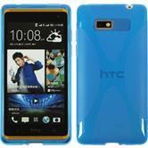 Silicone Case for HTC Desire 600 X-Style blue