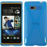 Silikon Hülle Desire 600 X-Style blau