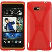 Silicone Case for HTC Desire 600 X-Style red