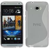 Silicone Case for HTC Desire 601 S-Style gray