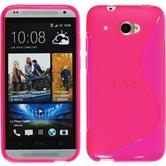 Silicone Case for HTC Desire 601 S-Style hot pink