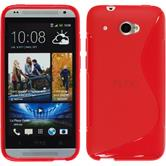 Silicone Case for HTC Desire 601 S-Style red