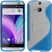 Silikon Hülle One M8  blau