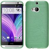 Silicone Case for HTC One M8 brushed green