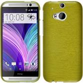 Silicone Case for HTC One M8 brushed pastel green