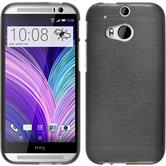 Silicone Case for HTC One M8 brushed silver