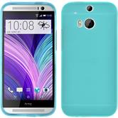 Silicone Case for HTC One M8 Dustproof blue