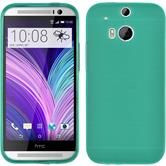 Silicone Case for HTC One M8 Dustproof green
