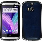 Silicone Case for HTC One M8 leather optics blue