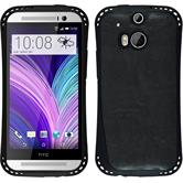 Silicone Case for HTC One M8 leather optics black