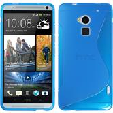 Silicone Case for HTC One Max S-Style blue
