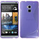 Silicone Case for HTC One Max S-Style purple