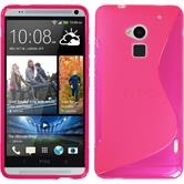 Silicone Case for HTC One Max S-Style hot pink