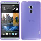 Silicone Case for HTC One Max transparent purple