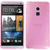 Silicone Case for HTC One Max transparent pink