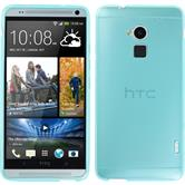 Silicone Case for HTC One Max transparent turquoise