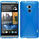 Silicone Case for HTC One Max X-Style blue