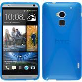 Silikon Hülle One Max X-Style blau + 2 Schutzfolien