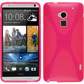 Silicone Case for HTC One Max X-Style hot pink