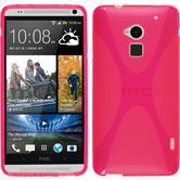 Silikon Hülle One Max X-Style pink + 2 Schutzfolien