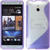 Silicone Case for HTC One Mini  purple