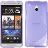 Silicone Case for HTC One Mini S-Style purple