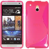 Silicone Case for HTC One Mini S-Style hot pink
