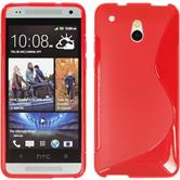 Silicone Case for HTC One Mini S-Style red