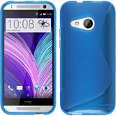 Silikon Hülle One Mini 2 S-Style blau + 2 Schutzfolien