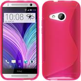 Silicone Case for HTC One Mini 2 S-Style hot pink