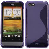 Silicone Case for HTC One V S-Style purple