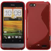 Silicone Case for HTC One V S-Style red
