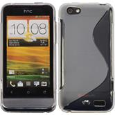 Silicone Case for HTC One V S-Style transparent