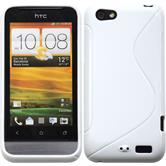 Silicone Case for HTC One V S-Style white