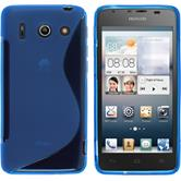 Silicone Case for Huawei Ascend G510 S-Style blue