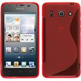 Silicone Case for Huawei Ascend G510 S-Style red
