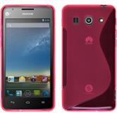 Silicone Case for Huawei Ascend G520 S-Style hot pink