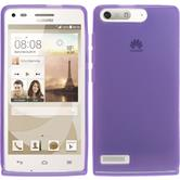 Silicone Case for Huawei Ascend G6 transparent purple
