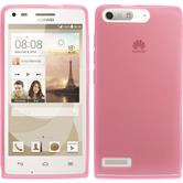 Silicone Case for Huawei Ascend G6 transparent pink