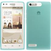 Silicone Case for Huawei Ascend G6 transparent turquoise
