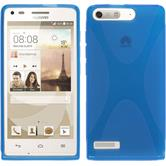 Silicone Case for Huawei Ascend G6 X-Style blue