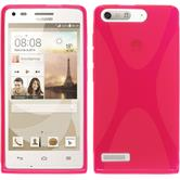 Silicone Case for Huawei Ascend G6 X-Style hot pink