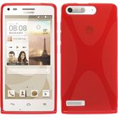 Silicone Case for Huawei Ascend G6 X-Style red