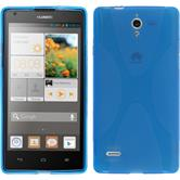 Silicone Case for Huawei Ascend G700 X-Style blue