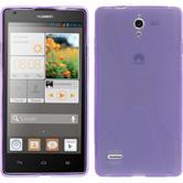 Silikon Hülle Ascend G700 X-Style lila